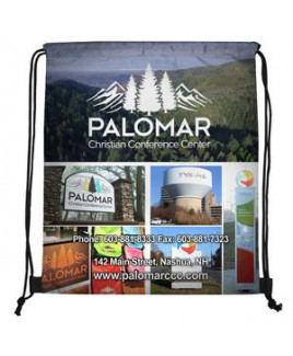 """""""Fuji"""" 210 Polyester Full-Color Sublimation Drawstring Cinch Pack Backpack (Overseas)"""