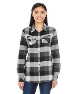 Burnside Ladies' Plaid Boyfriend Flannel Shirt