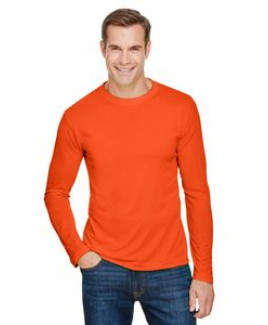 BAYSIDE Unisex 4.5 oz., 100% Polyester Performance Long-Sleeve T-Shirt