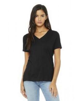 Bella+Canvas® Women's Relaxed Jersey Short Sleeve V-Neck Tee