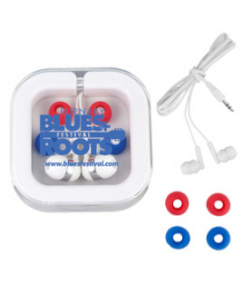 """Stow-n-Go"" Ear Bud Headphone Travel Set"