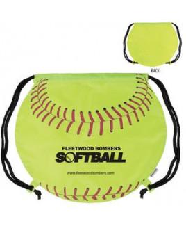 GameTime!® Softball Drawstring Backpack Bag