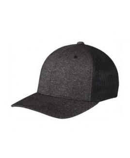 Port Authority® Flexfit® Melange Mesh Back Trucker Cap
