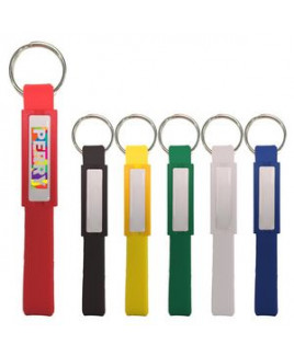 Silicone Key Tag With Dome