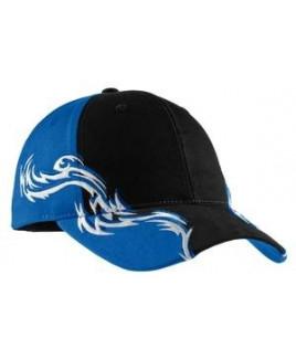 Port Authority® Colorblock Racing Cap w/Flames
