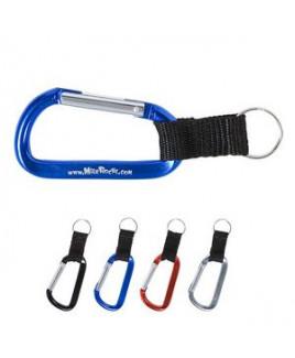 Carabiner Keychain w/Strap & Split Ring