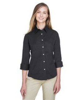 Devon and Jones Ladies' Perfect Fit? 3/4-Sleeve Stretch Poplin Blouse