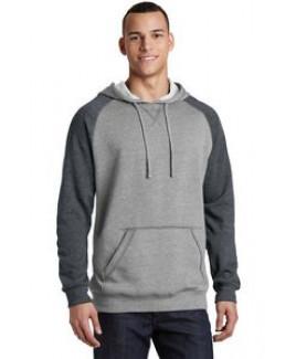 District® Men's Lightweight Fleece Raglan Hoodie