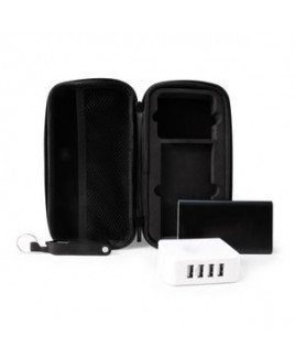 Charge Up Kit w/Powerbank, Cable w/4 Connectors, Wall Adapter & Black Zippered Case
