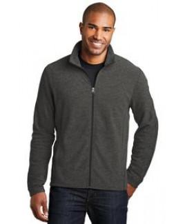 Port Authority® Men's Heather Microfleece Full-Zip Jacket