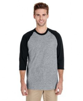 Gildan Adult Heavy Cotton? 5.3 oz. 3/4-Raglan Sleeve T-Shirt