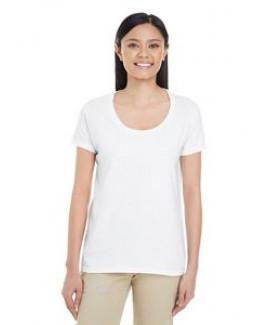 Gildan Ladies' Softstyle® 4.5 oz. Deep Scoop T-Shirt
