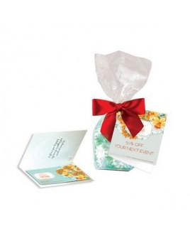 Gift Bag w/ Magnet, Striped Spearmints