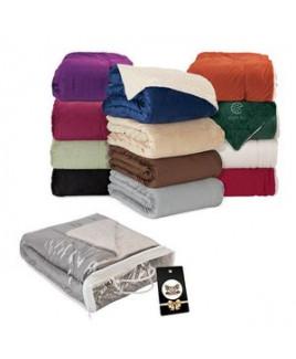 Brookline Micro Mink Sherpa Blanket & Hangtag