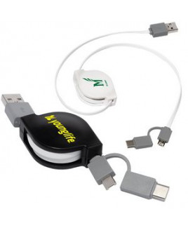 Retractable 3-in-1 Charging Cable (Overseas)