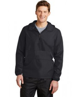Sport-Tek® Men's Zipped Pocket Anorak Jacket