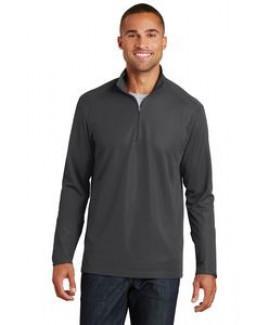 Port Authority® Men's Pinpoint Mesh 1/2-Zip Shirt