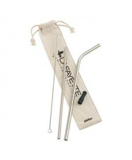 Perka Avila 5-Piece Stainless Steel Straw Set