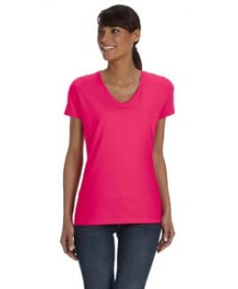 Fruit of the Loom Ladies' 5 oz. HD Cotton? V-Neck T-Shirt