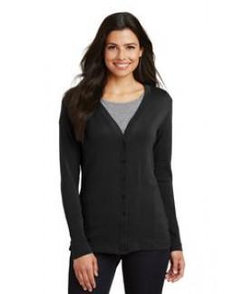 Port Authority® Ladies' Modern Stretch Cotton Cardigan Sweater
