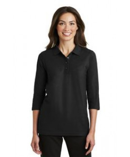 Port Authority® Ladies Silk Touch™ 3/4 Sleeve Polo Shirt