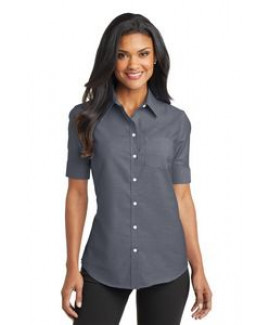 Port Authority® SuperPro™ Ladies Short Sleeve Oxford Shirt