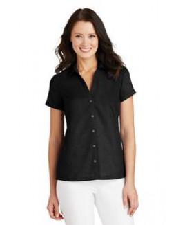 Ladies' Port Authority® Textured Camp Shirt