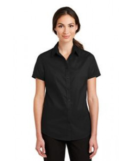 Port Authority® SuperPro™ Short Sleeve Ladies Twill Shirt