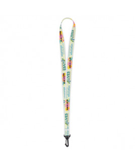 """3/4"""" Super Soft Polyester Multi-Color Sublimation Lanyard (Overseas 8-10 Weeks)"""