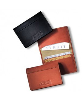 Fire Island™ Business Card Case (Sueded Full-Grain Leather)