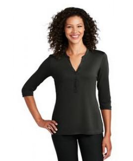 Port Authority® Ladies UV Choice Pique Henley Shirt