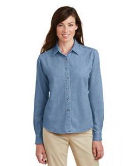 Port & Company® Ladies' Long Sleeve Value Denim Shirt