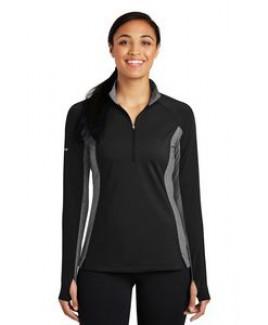 Sport-Tek® Ladies' Sport-Wick® Stretch Contrast 1/2-Zip Pullover Sweatshirt