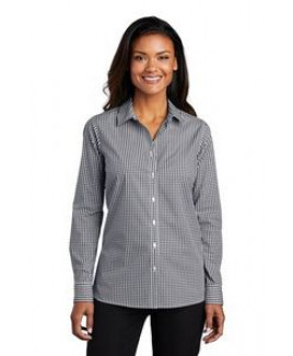 Port Authority® Ladies Broadcloth Gingham Easy Care Shirt