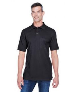 Harriton Adult 6 oz. Ringspun Cotton Piqué Short-Sleeve Pocket Polo