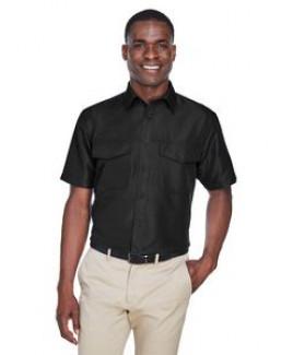 Harriton Men's Key West Short-Sleeve Performance Staff Shirt