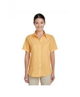 Harriton Ladies' Paradise Short-Sleeve Performance Shirt