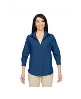 Harriton Ladies' Paradise 3/4-Sleeve Performance Shirt