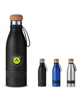 19 Oz. Double Wall Vacuum Bottle w/Cork Lid