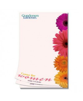 Paper Note Pad 3 1/2 x 5 1/2, 50 pages, w/mag 4CP