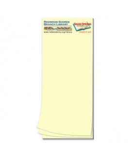Paper Note Pad 3 1/2 x 8 1/2, 50 pages w/ mag 4CP