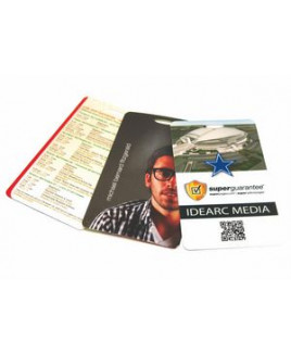 "3.5"" x 4"" Gift Card Stock Lanyard Card"