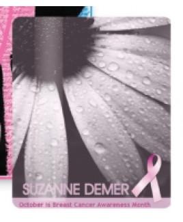 "Breast Cancer Awareness 3.5"" x 5"" Laminated Card Stock Lanyard Card"
