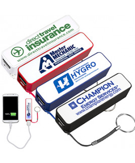 """""""In Charge"""" UL Listed 2200 mAh Portable Lithium Ion Power Bank Charger"""