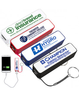 """""""In Charge"""" UL Listed 2200 mAh Portable Lithium Ion Power Bank Charger (Overseas)"""