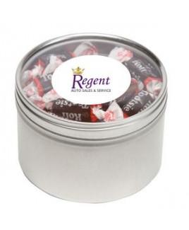 Tootsie Roll® Candy in Lg Round Window Tin