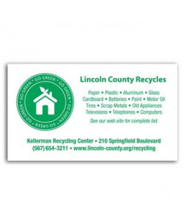 Go Green Business Card Magnet