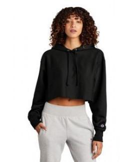 Champion® Women's Reverse Weave® Cropped Cut-Off Hooded Sweatshirt