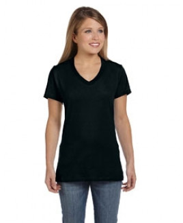 Hanes Printables Ladies' 4.5 oz., 100% Ringspun Cotton nano-T® V-Neck T-Shirt