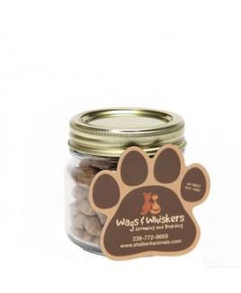 Cat Treats in Half Pint Jar w/ Paw Magnet